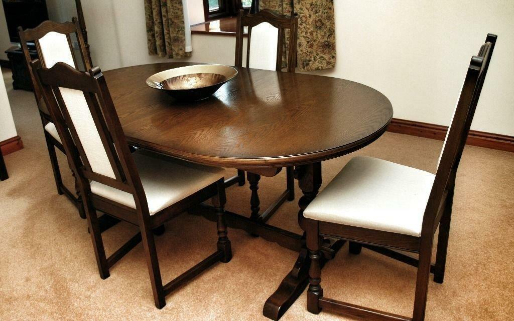 Old Charm Solid Oak Lancaster Extending Dining Table Chairs In Showroo
