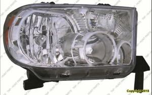 Head Lamp Passenger Side Tndra Without Level Toyota Tundra 2007-2013