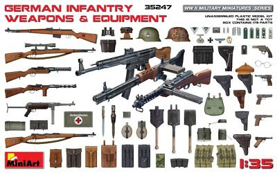 Wwii German Infantry Weapons - German Infantry Weapons & Equipment  WWII 1/35 MiniArt  35247