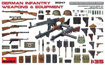 Wwii German Infantry Weapons - MiniArt 1/35 35247 WWII German Infantry Weapons & Equipment