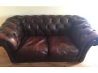 Chunky Chesterfield vintage 2 seater sofa