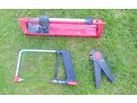 Tile cutter, scriber and saw