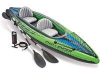 Intex K2 Challenger 2 Man Person Inflatable Kayak Canoe New