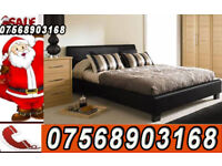 Bed SUPER DOUBLE LEATHER BED AND MATTRESS AND STORAGE bed 8