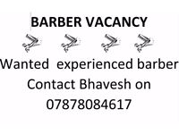 Vacancy for Barber