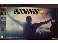 PS3 Guitar Hero Live with guitar controller new boxed