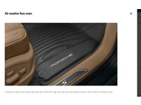 Porsche macan all weather rubber floor matts . Genuine porsche part