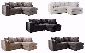 BRAND NEW**DYLAN,BYRON,DINO JUMBO CORD CORNER AND 3+2 SEATER**£269