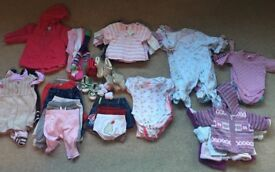 Baby girl clothes bundles 0-3 months