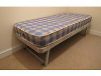 Bed. Spare bed single ideal for guests. Easily stored away