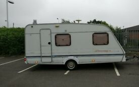 2001 Swift Speedbird 4 berth fixed bed caravan with full Bradcot awning Cris registered
