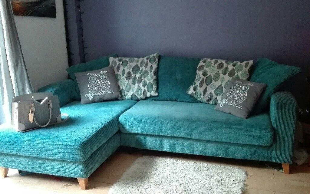 Dfs Teal Corner L Sofa In Bradwell Norfolk Gumtree