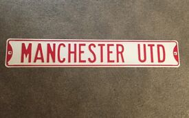 Manchester United metal sign