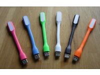 34 x Flexible Bright Mini USB Lights (Various Colours)