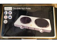 New Double Electric Hotplate Boxed