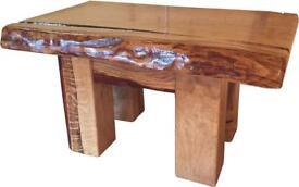 New oak coffee table