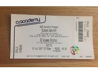 1 x Richard Ashcroft ticket O2 Academy Brixton Saturday 1st July 2017