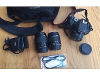 Canon 600D + 3 x lenses and new camera bag