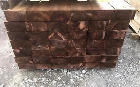 🌲Brown Pressure Treated Wooden Railway Sleepers ~ New