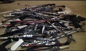 Wanted broken hockey sticks