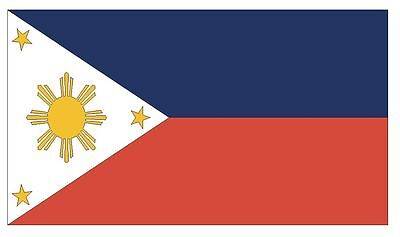 Home Decoration - PHILIPPINES Vinyl International Flag DECAL Sticker MADE IN THE USA F394