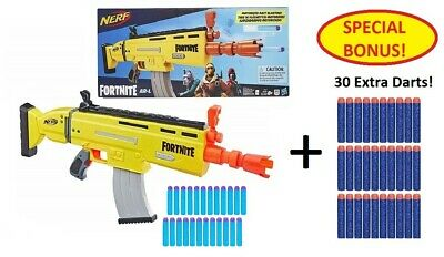 NEW! NERF Fortnite AR-L Elite Dart Blaster w/ 20 Elite Darts + 30 Bonus Darts