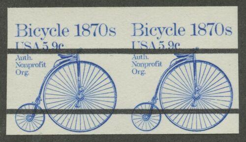 #1901b 5.9c Bicycle Vf Og Nh Imperf Coil Pair Major Error Cv $150+ Bl8296r