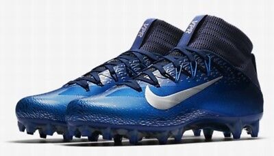 NEW Nike Vapor Untouchable 2 Football Lacrosse Cleats Blue Navy Silver  Men's 13