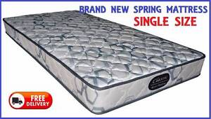 Brand New SINGLE Size Innerspring Mattress - DELIVERED FREE New Farm Brisbane North East Preview