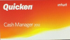Quicken - Cash Manager 2012 or later CD