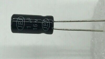 20 50 100 Piece 1uf 16v Radial Electrolytic Capacitor Usa Seller