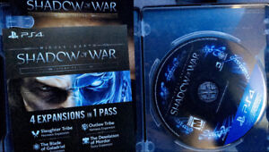 PS4 Shadow of War GOLD edition w/ Expansion Pass