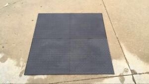 """4,000 sqft of super durable mats/flooring that """"snap"""" in place"""