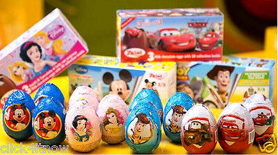 Zaini Disney Chocolate Surprise 3 Eggs With Toy Figure Inside choco toys MICKEY (Eggs With Toys Inside)