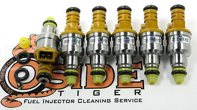 1985-92 BMW 735i Fuel Injectors Genuine Direct Replacement Bosch 4-Hole Spray!