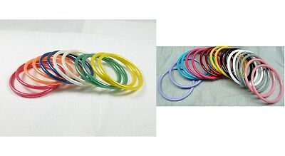 Wholesale Lot 36 Acrylic Made in USA New Old Stock Vintage 80s Bangle Bracelets (80s Bangles)