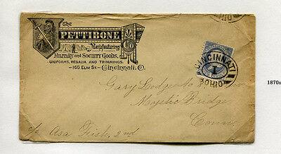 Advertising Envelope PETTIBONE MFG Cincinnnati OH military society goods #D7