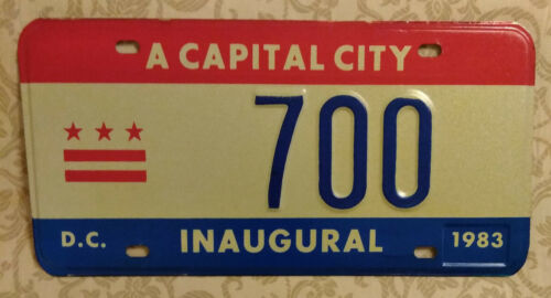 1983 WASHINGTON DISTRICT OF COLUMBIA MAYORAL 700 INAUGURAL LICENSE PLATE