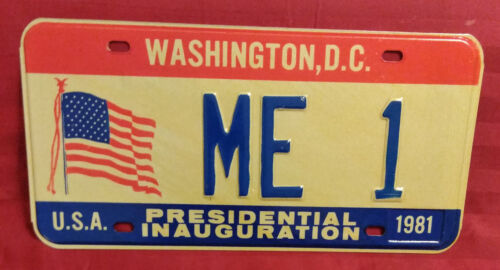 1981 DISTRICT OF COLUMBIA ME-1 MAINE INAUGURAL LICENSE PLATE