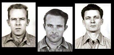 Escape from Alcatraz Mug Shots PHOTO Lot,Alcatraz Prison THE ROCK, Anglin,Morris
