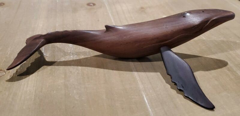 Hand Carved Wooden Humpback Whale