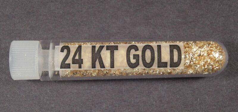 10 - GOLD LEAF FLAKE BOTTLES