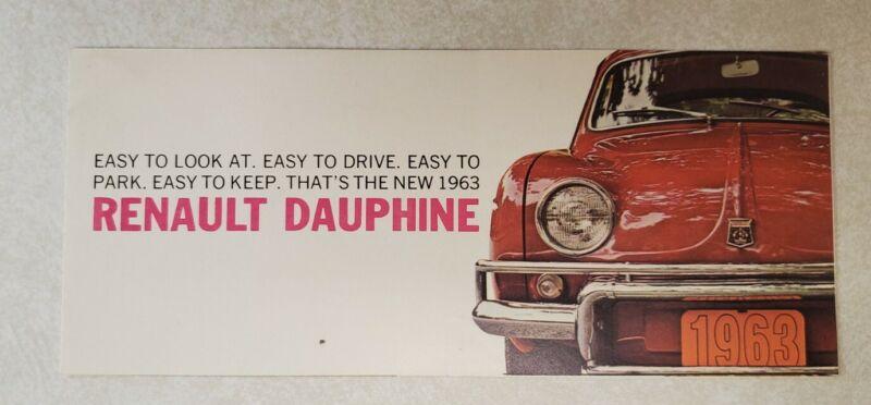 Vintage 1963 Renault Dauphine Sales Dealer Brochure