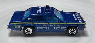 Matchbox Ford LTD State Police Car Blue 1/64 Vintage Diecast Loose