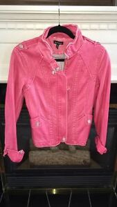 Le Chateau Pink Leather Jacket BRAND NEW