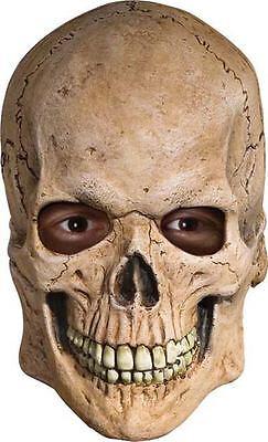 Menschlicher Schädel Maske Deluxe Latex Überkopf Sensenmann - Deluxe Sensenmann Kostüm