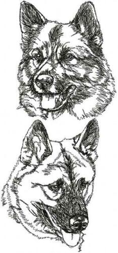 Norwegian Elkhound Dog Personalized Embroidered Fleece Stadium Blanket Gift