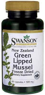 New Zealand Green Lipped Mussel, Freeze Dried 500 mg x 60 Caps - 24HR DISPATCH