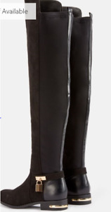 NEW BOOTS- over-the-knee, back stretch, sz 9.5W