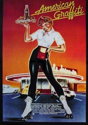 Poster Plakat Aufkleber Sticker 1978 George Lucas American Graffiti Filme & Dvds Film-fanartikel